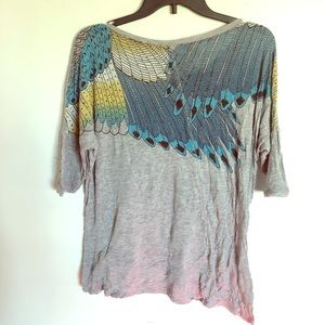 Tropical bird wings knit shirt forever 21